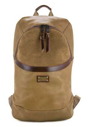 As2ov Leather combination day pack - Brown