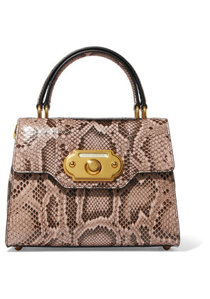 Dolce & Gabbana - Welcome Small Python Tote - Snake print