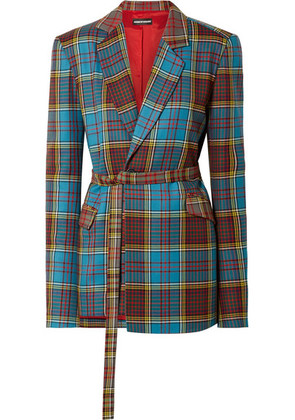 House of Holland - Oversized Tartan Wool Blazer - Blue