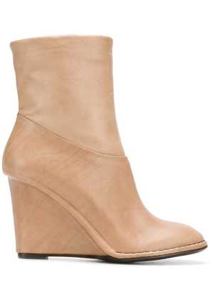Del Carlo wedged ankle boots - Neutrals