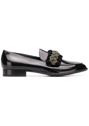 Agl braided detail loafers - Black