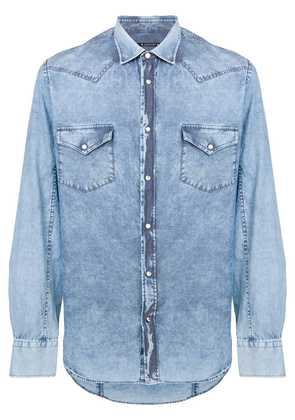 Jacob Cohen faded effect denim shirt - Blue