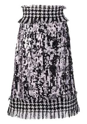 Dolce & Gabbana high waisted tweed skirt - Silver