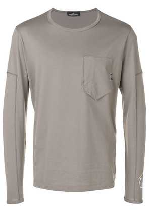 Stone Island Shadow Project printed long sleeved T-shirt - Grey