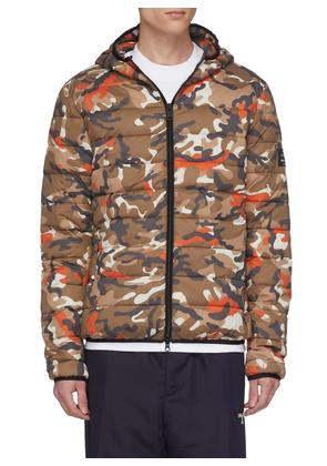 'Asp' hooded camouflage print Primaloft® down puffer jacket