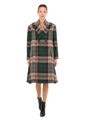VIRGIN WOOL PLAID COAT