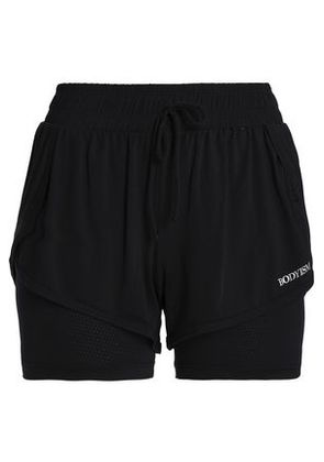 Bodyism Woman Clare Layered Stretch-jersey Shorts Black Size XL