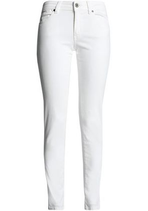 Just Cavalli Woman Mid-rise Skinny Jeans Off-white Size 24