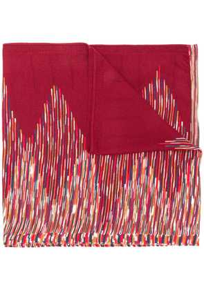 Missoni striped scarf - Red
