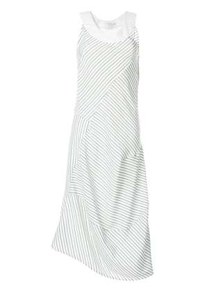 Victoria Beckham striped midi dress - White