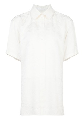 Victoria Beckham shortsleeved button shirt - White