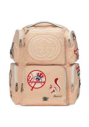 Gucci Large backpack with NY Yankees™ patches - Neutrals