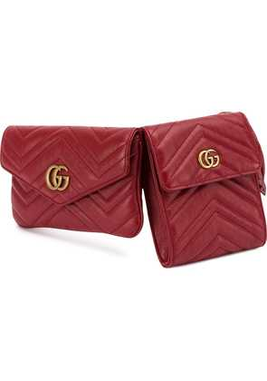 Gucci GG Marmont double belt bag - Red