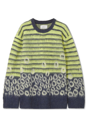 Current/Elliott - The Wes Intarsia Knitted Sweater - Yellow