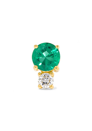 Jemma Wynne - 18-karat Gold, Emerald And Diamond Earring - one size