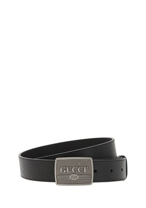30MM VINTAGE LOGO LEATHER BELT