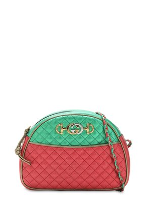 MEDIUM TWO TONE QUILTED LEATHER BAG