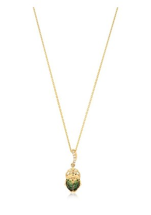 BEETLE MINI CHARM 18KT GOLD NECKLACE