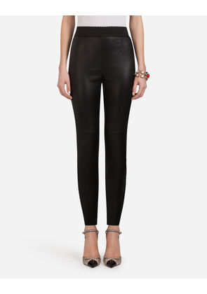 Dolce & Gabbana Trousers and Leggings - LEATHER PANTS BLACK