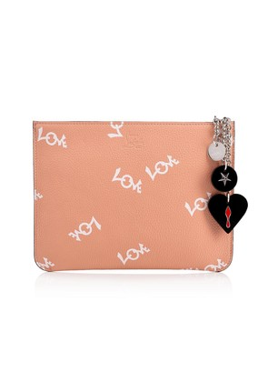 Christian Louboutin Loubicute pouch Pink and White Calfskin - Accessories
