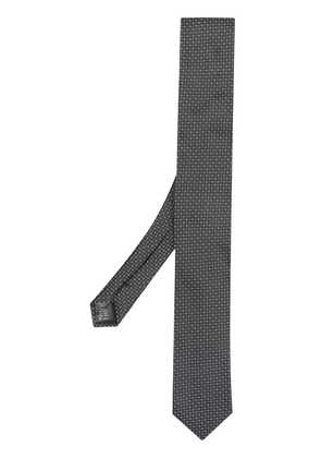 Dolce & Gabbana micro patterned tie - Black