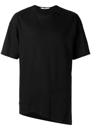 Chalayan triangle fold detail T-shirt - Black