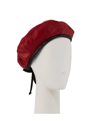Kate Two-Tone Leather Beret