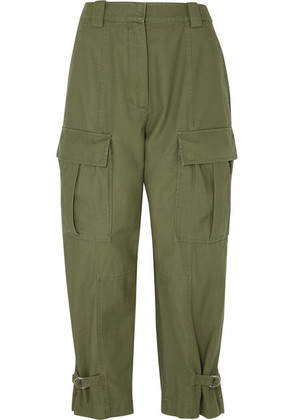 3.1 Phillip Lim - Tapered Cotton-twill Cargo Pants - Army green