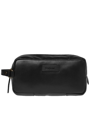 Barbour Compact Leather Washbag