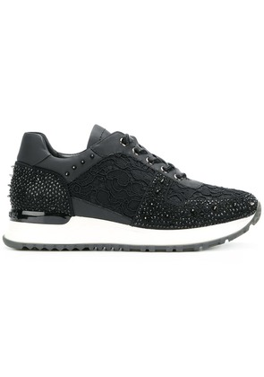 Gianni Renzi embroidered low-top sneakers - Black