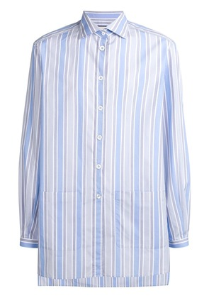 Gucci striped oversized shirt - Blue