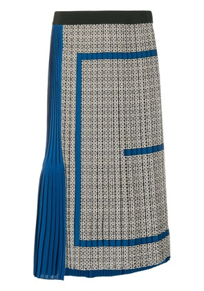 Givenchy micro pleated midi skirt - Blue