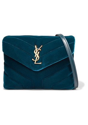 Saint Laurent - Loulou Quilted Velvet Shoulder Bag - Teal