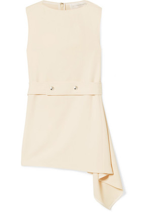 Victoria Beckham - Belted Asymmetric Cady Top - Cream
