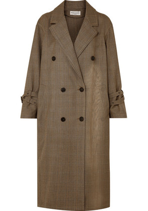 Sonia Rykiel - Oversized Prince Of Wales Wool Trench Coat - Brown