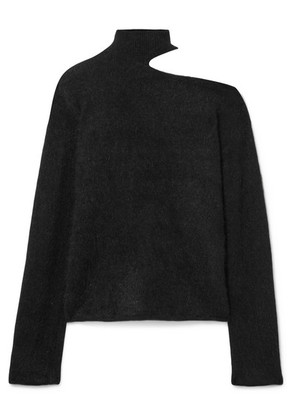 RtA - Langley Cutout Mohair And Wool-blend Turtleneck Sweater - Black