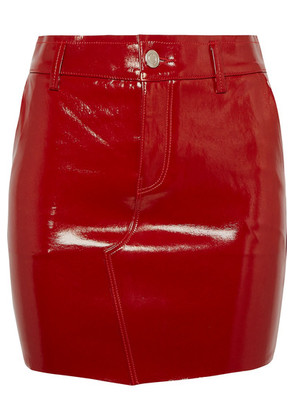 RtA - Callie Patent-leather Mini Skirt - Red