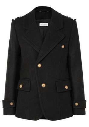 Saint Laurent - Wool Coat - Black
