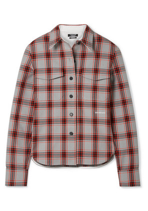 CALVIN KLEIN 205W39NYC - Checked Twill Shirt - Red