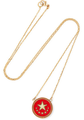 Foundrae - Strength 18-karat Gold, Diamond And Enamel Necklace - one size