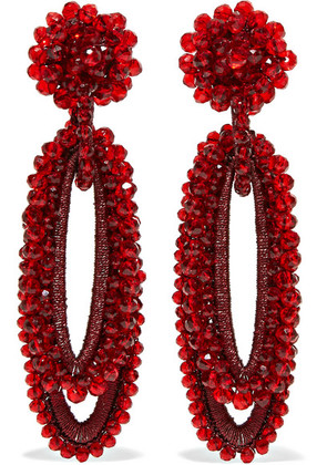 Bibi Marini - Bell Bead And Silk Earrings - Red