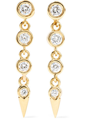 Jemma Wynne - 18-karat Gold Diamond Earrings - one size
