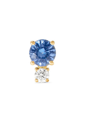 Jemma Wynne - 18-karat Gold, Sapphire And Diamond Earring - one size
