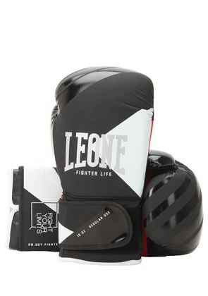 10OZ FIGHTER FAUX LEATHER BOXING GLOVES