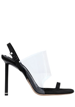 105MM KAIA PLEXI & SATIN SANDALS