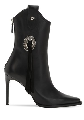 90MM RODEO LEATHER ANKLE BOOTS