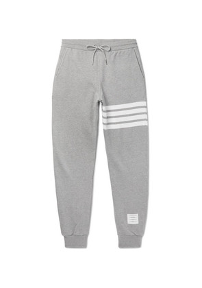Tapered Striped Loopback Cotton-jersey Sweatpants