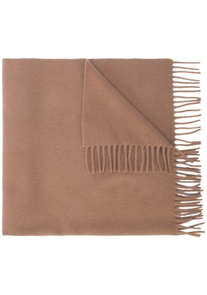 A.P.C. classic fringed scarf - Brown