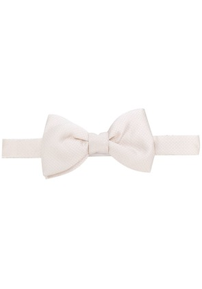 Lanvin patterned bow tie - White