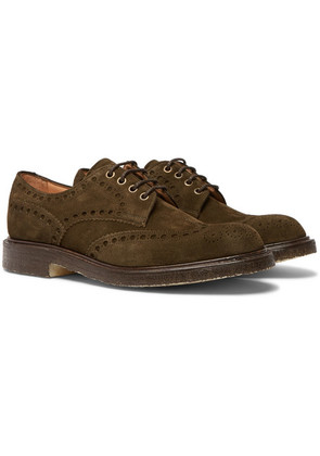 Cheaney - Avon Suede Wingtip Brogues - Brown